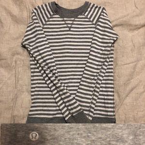 lululemon reversible stripe sweatshirt- size 4
